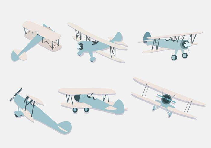 Biplane Illustration Vector