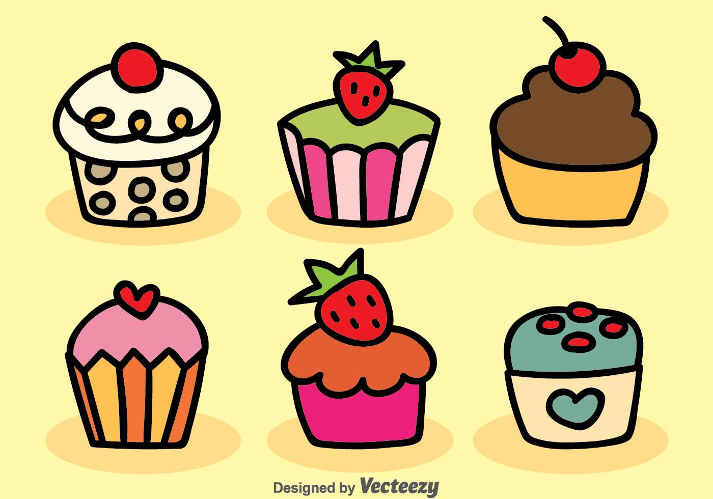 fruit cartoon free vector art 10785 free downloads rh vecteezy com Cupcake Clip Art Black and White Cupcake Clip Art
