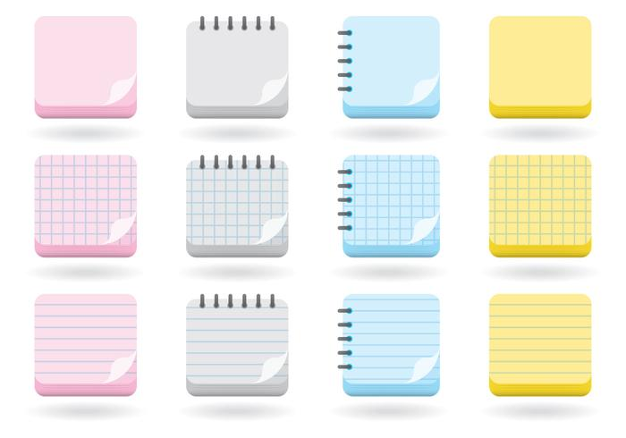 Flip Pages Icons vector