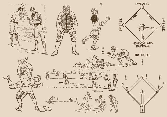 Baseball Ritningar vektor
