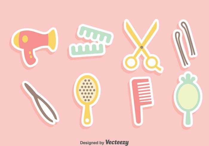 Hair Accessories Vector Set