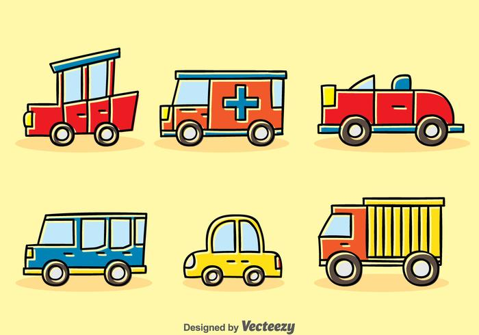 Cartoon Vehicle Vector Set