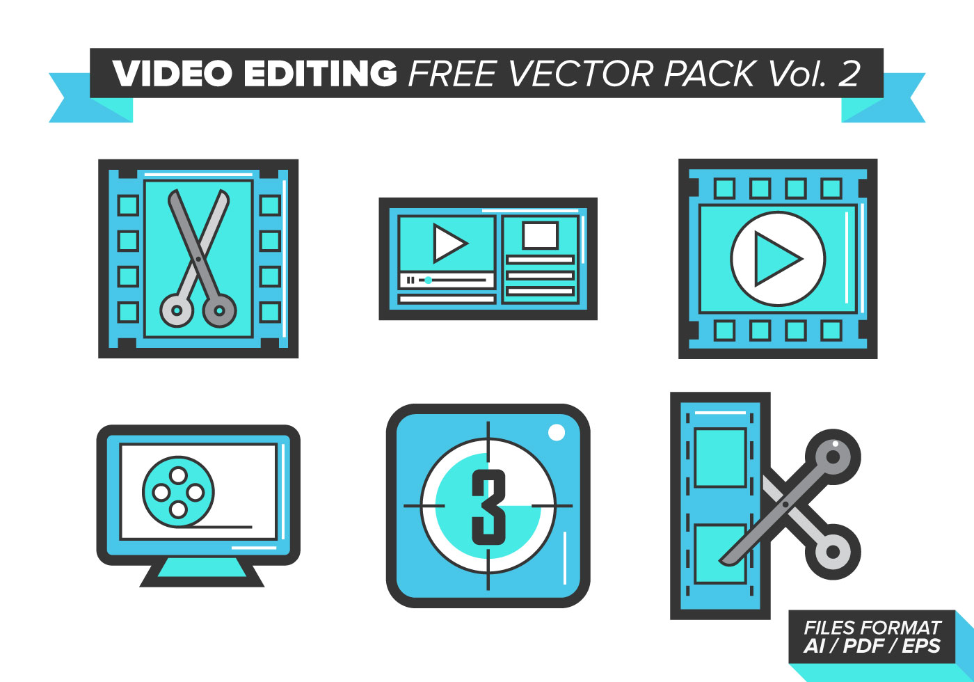 Video editing free vector pack vol 2 download free Online vector editor