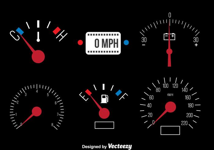 Bil Dashboard Vector