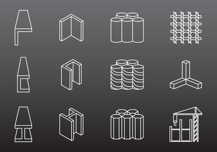Steel Construction Icons