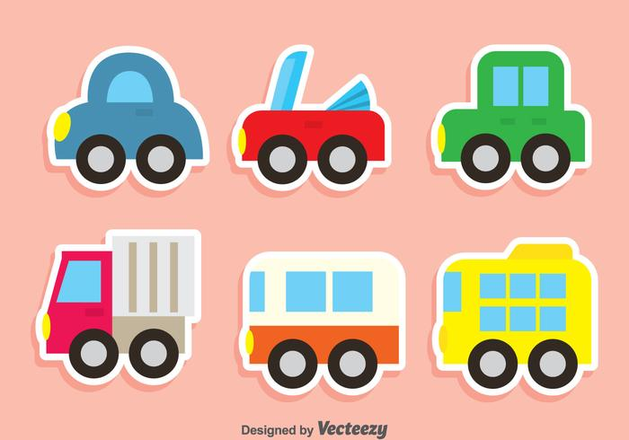 Cute Vehicle Vector Set
