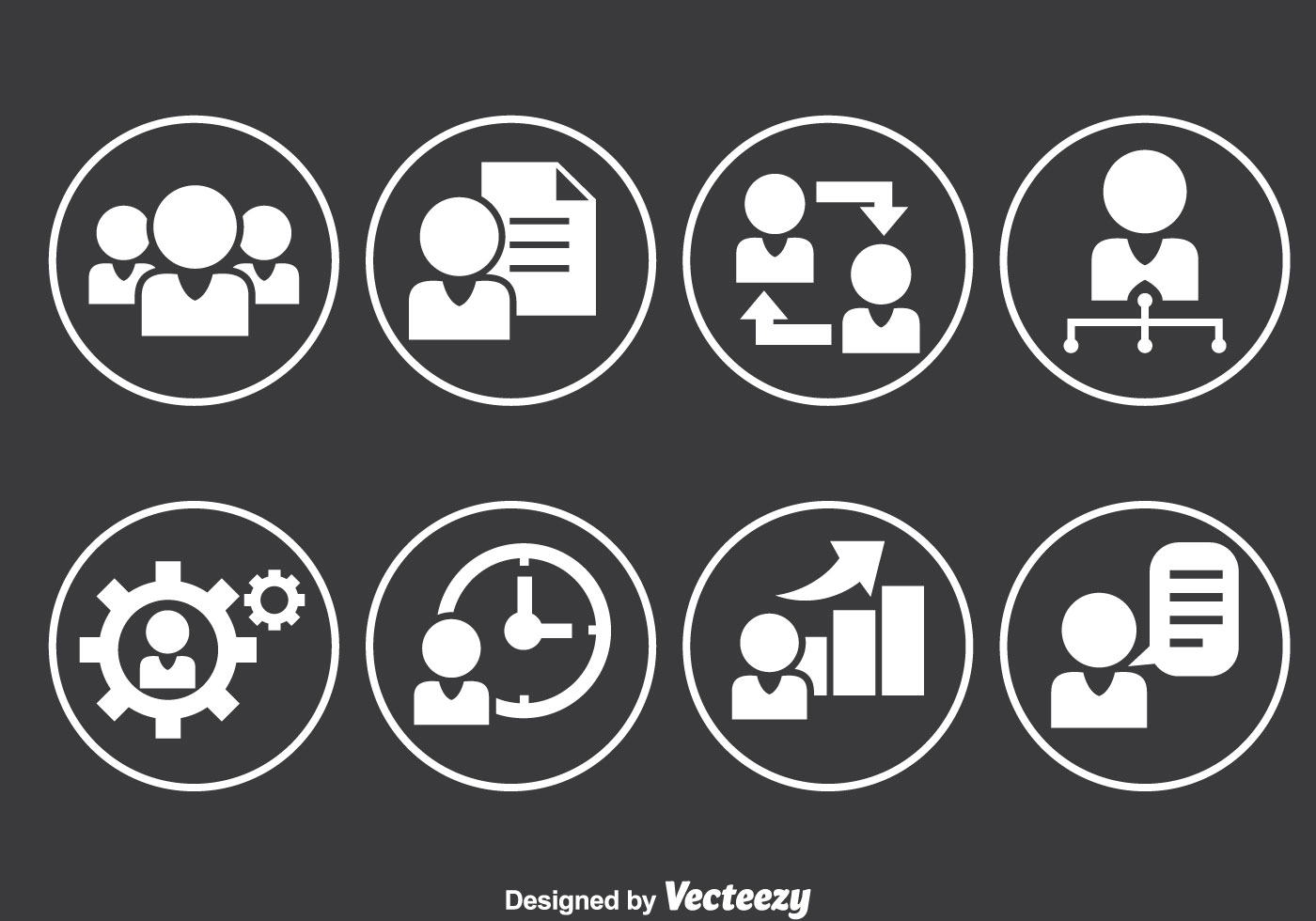 People Working Circle Icons - Download Free Vectors ...