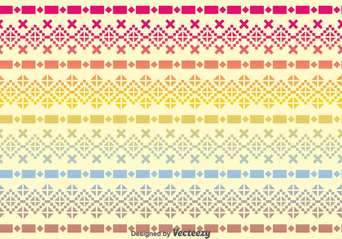 Incas Raibow Pattern vector