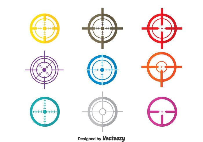 Colorful Laser tag Vector