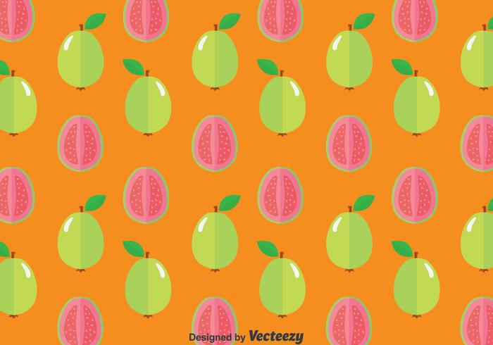 Guava Frukt Sömlös Mönster vektor