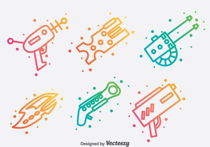 Laser Gun Collection vector