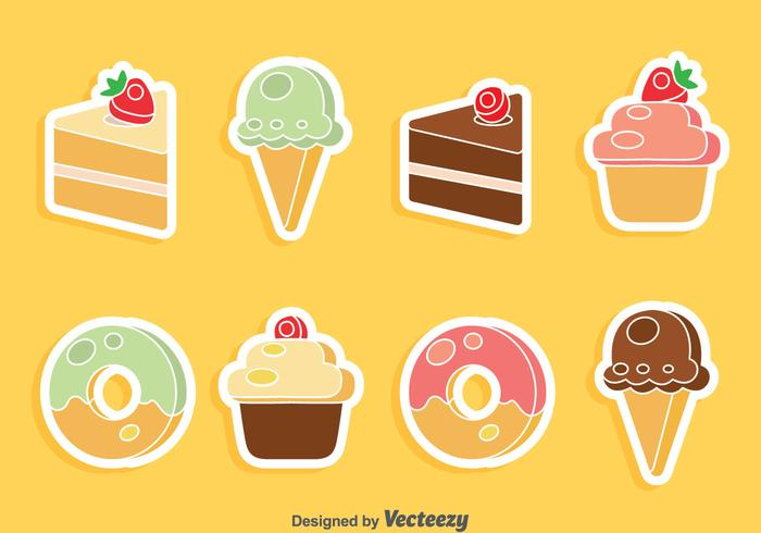Cake And Ice Cream Vector Set