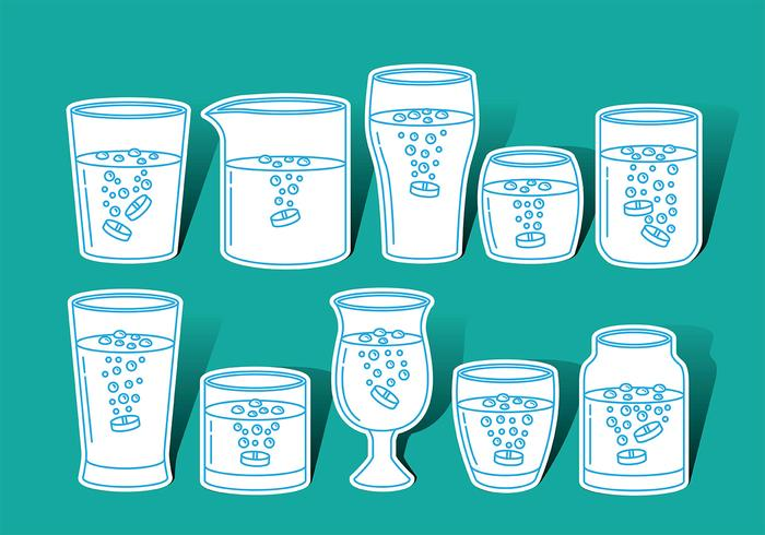 Effervescent Glass Vector Icons