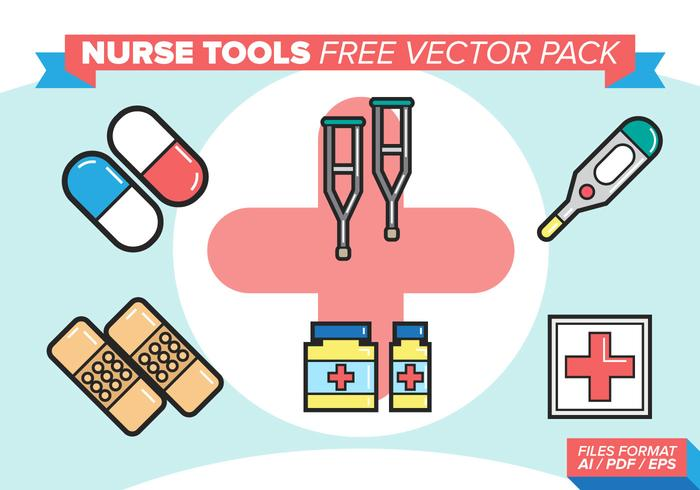 Nurse Tools Free Vector Pack