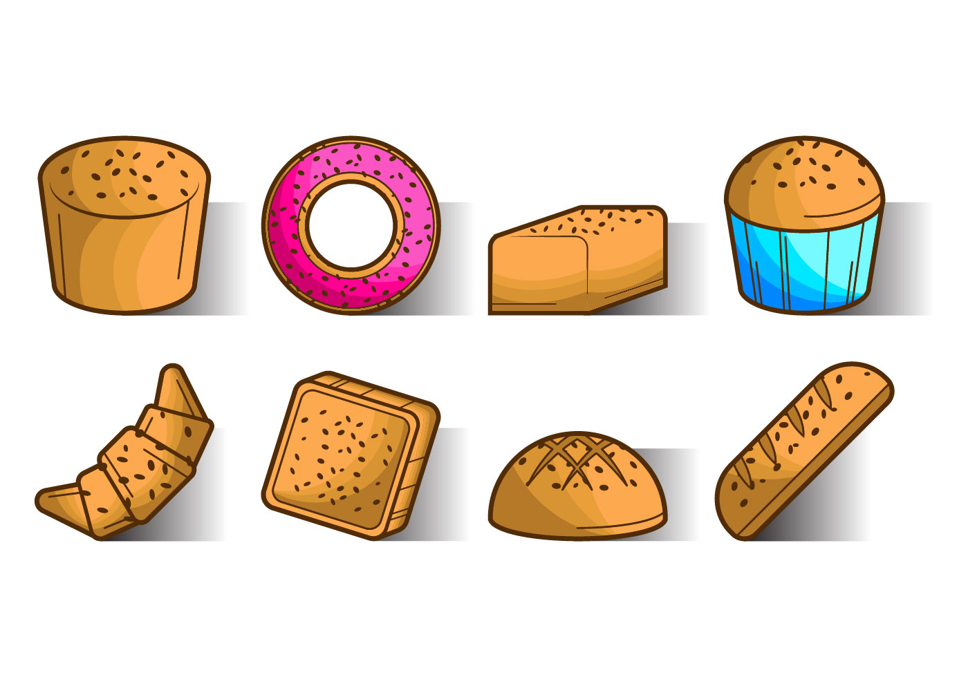 Free Raisins Bread Icon Vector Download Free Vector Art