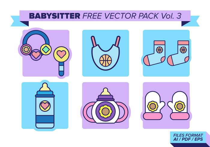 Babysitter Free Vector Pack Vol. 3