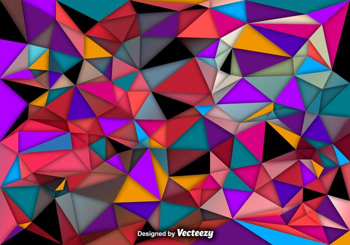 Vector Abstract Background Of Colorful Polygons