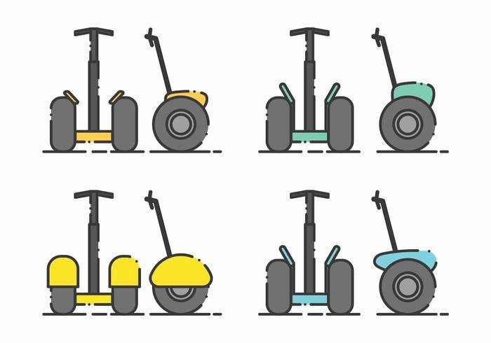 Minimalistisches Segway Icon Set