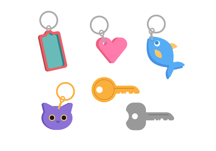 Key Chains Vector Set