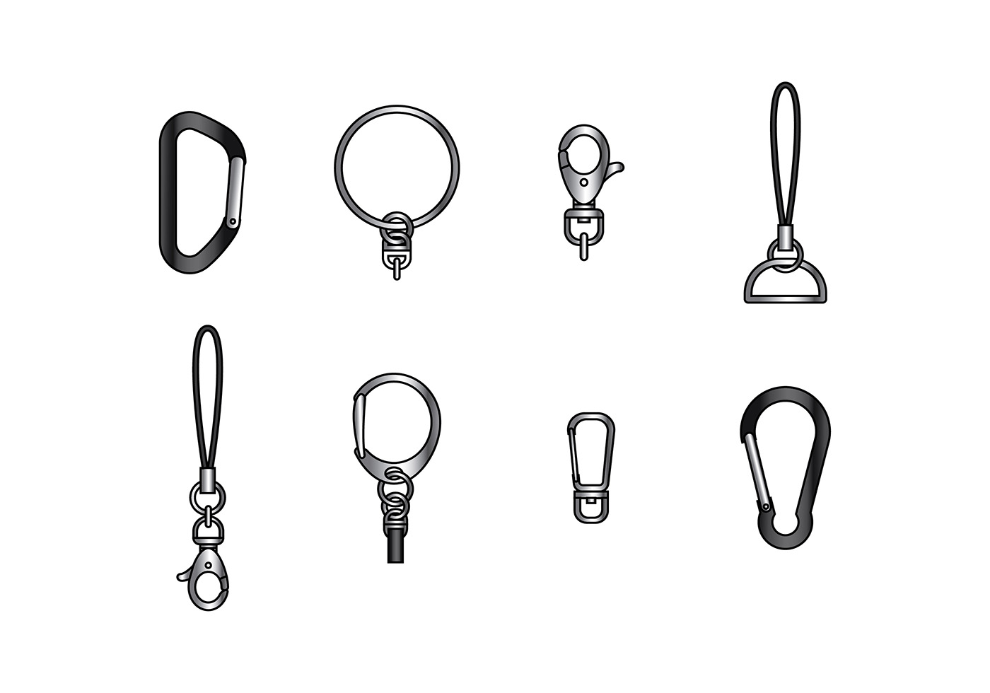 Key Chain Holder Parts Vector Download Free Vector Art