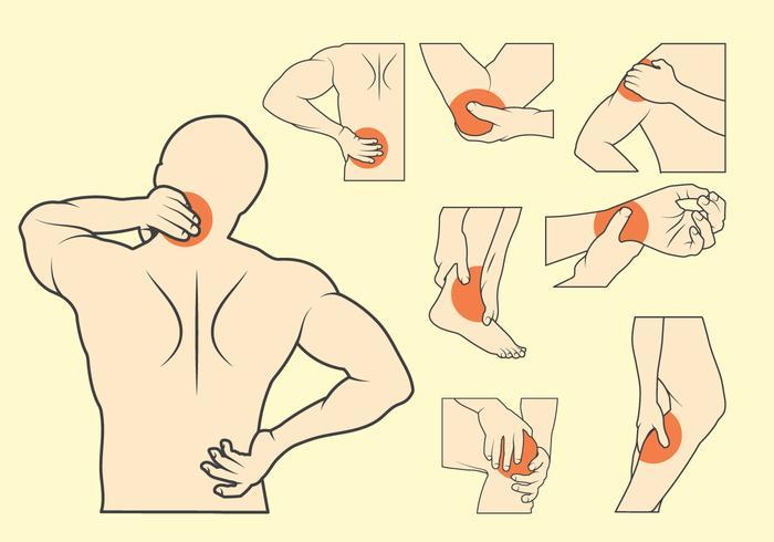 Jogo de ilustração de dor