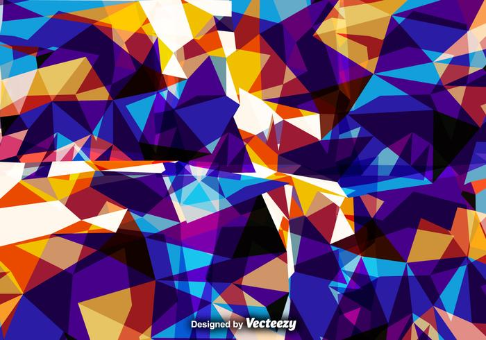 Vector Abstract Background With Colorful Polygons