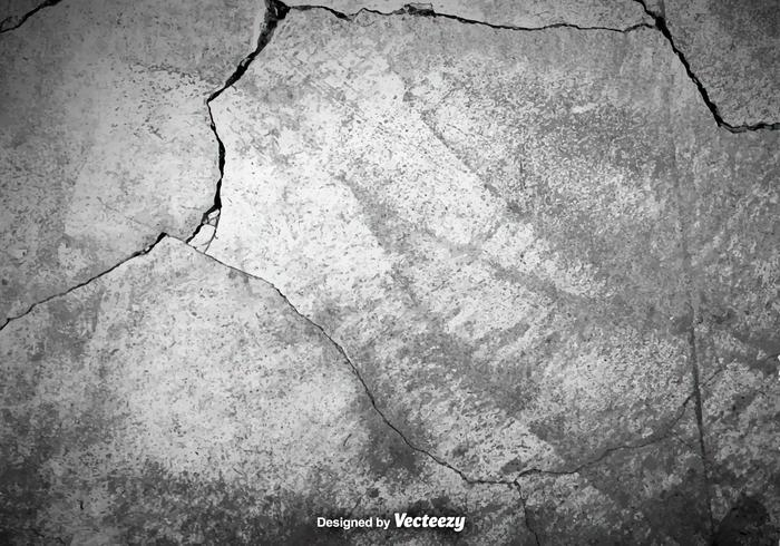 Vector Gray Cracked Concrete Texture