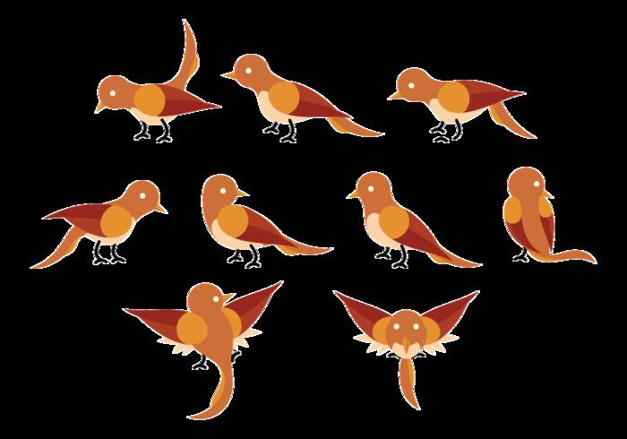 Nightingale Cartoon Vector