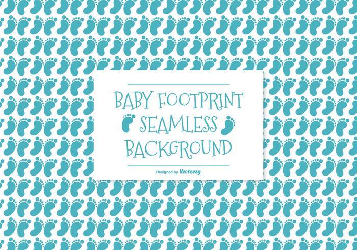 Baby Footprint Seamless Pattern Background