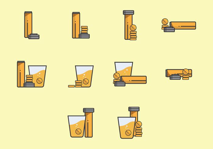 Effervescent Step by Step and Position Icon Set