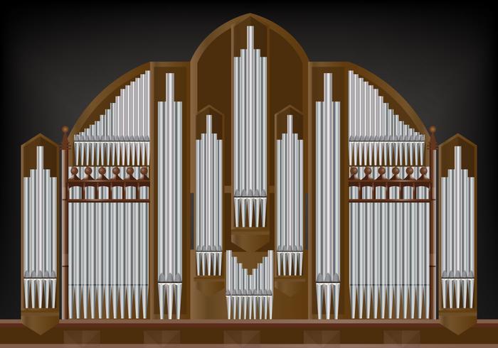 Pipe Organ Vector