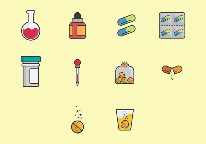 Effervescent Medicine Icon Set