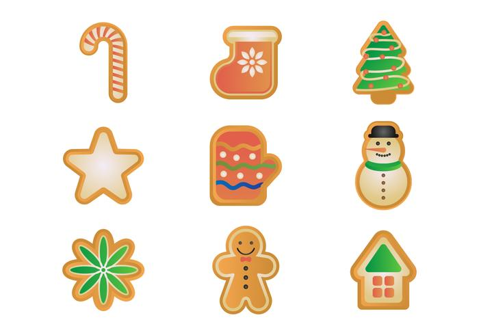 Free Gingerbread Cookies Vector Set