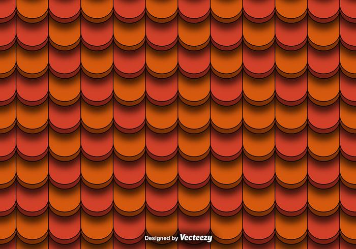 Seamless Pattern Of Red Clay Roof Tiles Vector - Download
