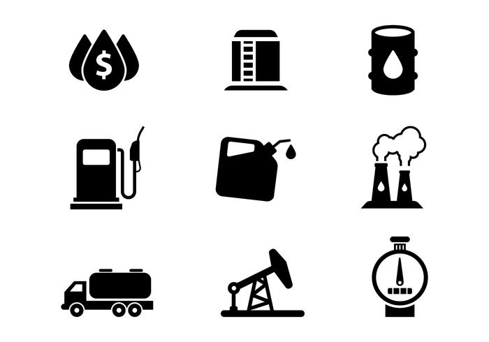 Free Oil Icons Set Vector
