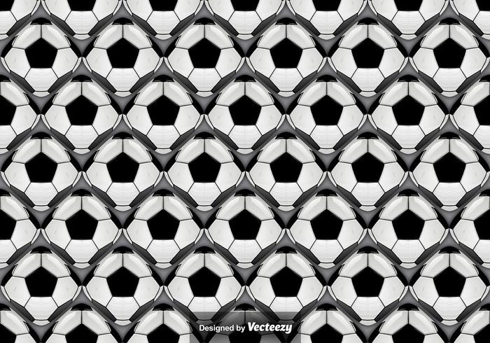Vector Seamless Pattern With Abstract Football Balls