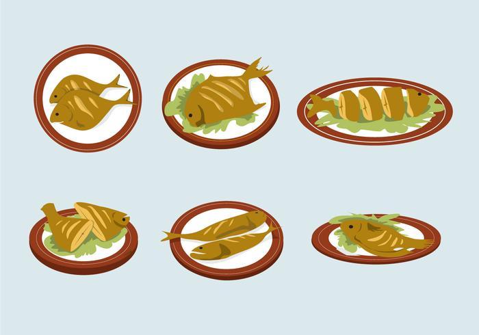 Delicious Fish Fry Vector