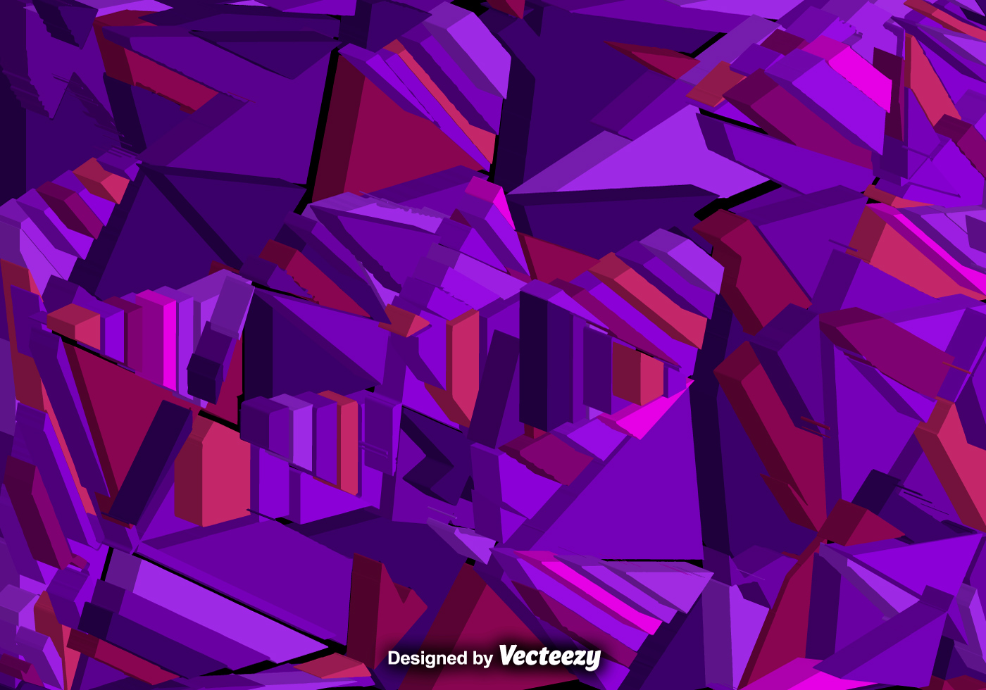 Vector abstract background with 3d purple polygons for Purple wallpaper 3d