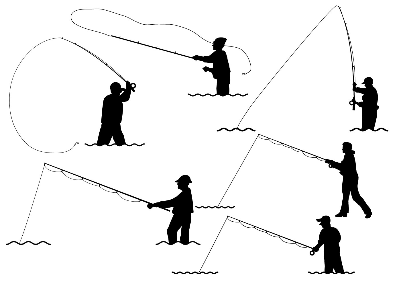 Fly Fishing Vector - Download Free Vector Art, Stock ...