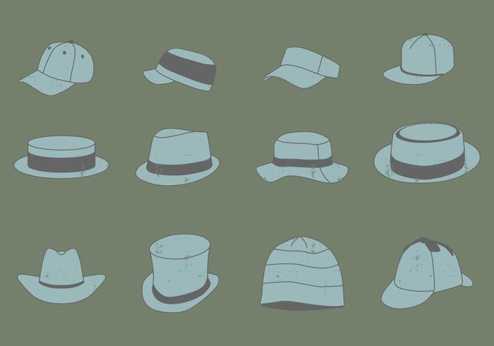 Vintage Kopfbedeckung Set