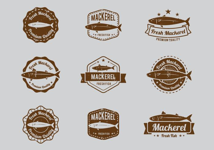 Seafood Mackerel Badge