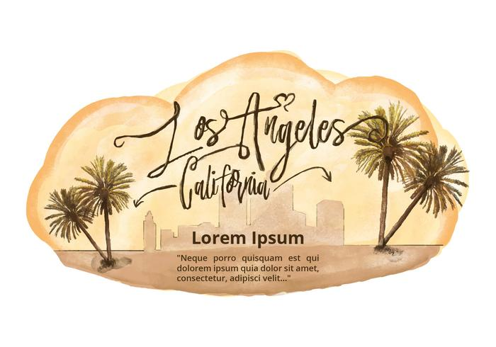 Free Los Angeles Watercolor Vector