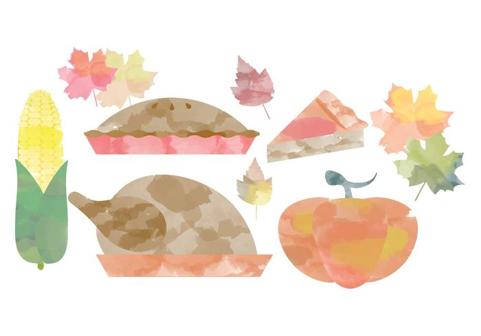 Thanksgiving Watercolor Vectors