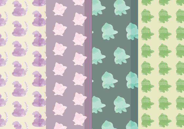Vector Pokemon Patterns