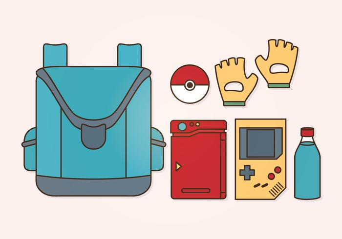 Vector Pokemon Accessories Set