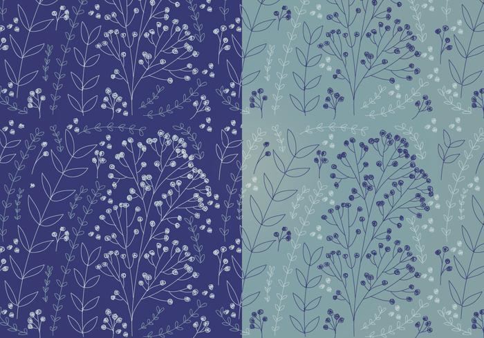 Vector Boho Floral Patterns