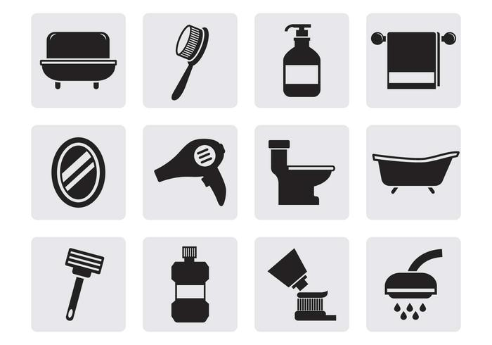 Free Bathroom Icons Vector - Download Free Vector Art, Stock ...
