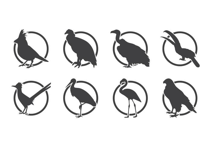 Vector grátis de logotipo de pássaro Silhoutte