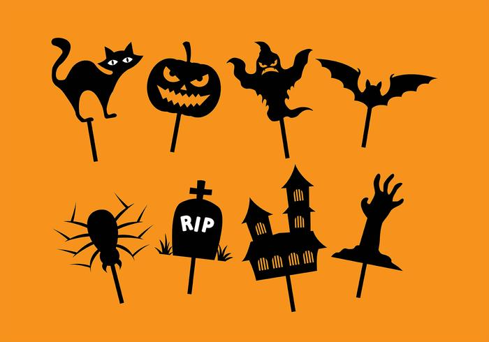 Halloween shadow puppet vector