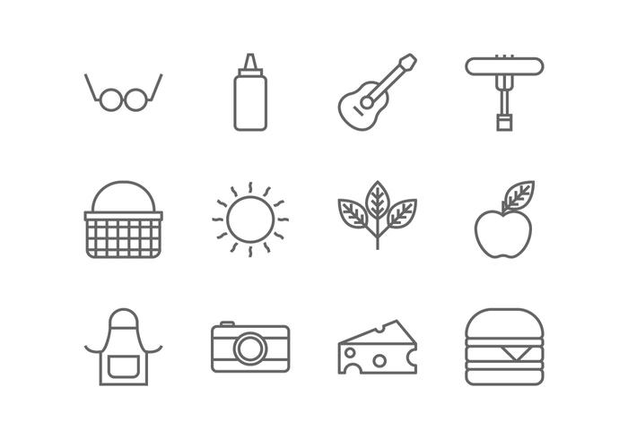 Picnic Line Icon